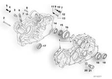 Goto diagram: BMW Classic Motorbike Model F 650 ST 97 (0163,0168)( ECE ), Category 11.11 Engine housing mounting parts :: Diagram: 11_1871