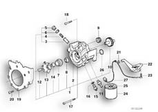 Goto diagram: BMW Classic Motorbike Model K 1200 GT 01 (0548,0558)( USA ), Category 11.51 WATERPUMP/OILPUMP - OIL FILTER :: Diagram: 11_1881