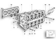 Goto diagram: BMW Classic Motorbike Model K 1200 GT 01 (0548,0558)( USA ), Category 11.12 Cylinder head :: Diagram: 11_1889