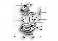 Goto diagram: BMW Classic Motorbike Model R51/2( ECE ), Category 11.20 Cylinder head :: Diagram: 11_2588