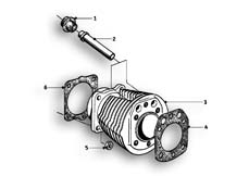 Goto diagram: BMW Classic Motorrad Modell R69 S( ECE ), Category 11.10 Cylinder :: Diagram: 11_2606
