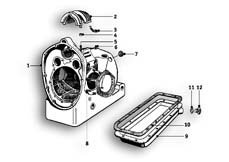 Goto diagram: BMW Classic Motorbike Model R51/2( ECE ), Category 11.05 Engine housing :: Diagram: 11_2615