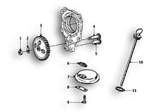 Goto diagram: BMW Classic Motorbike Model R69 S( ECE ), Category 11.35 Oil pump :: Diagram: 11_2623