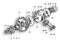 Goto diagram: BMW Classic Motorbike Model R51/2( ECE ), Category 11.25 CRANKSHAFT :: Diagram: 11_2746