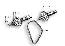 Goto diagram: BMW Classic Motorbike Model R51/2( ECE ), Category 11.30 Camshaft Camshaft :: Diagram: 11_2747