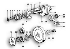 Goto diagram: BMW Classic Motorbike Model R69 S( ECE ), Category 11.25 CRANKSHAFT :: Diagram: 11_2750