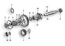 Goto diagram: BMW Classic Motorrad Modell R69 S( ECE ), Category 11.30 Camshaft Camshaft :: Diagram: 11_2756