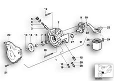 Goto diagram: BMW Classic Motorbike Model K 1100 LT (0526, 0536)( ECE ), Category 11.51 WATERPUMP/OILPUMP - OIL FILTER :: Diagram: 11_2759