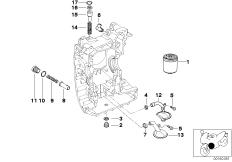 Goto diagram: BMW Classic Motorbike Model R 900 RT 05 SF (0367,0387)( ECE ), Category 11.42 Lubrication system-Oil filter :: Diagram: 11_2795