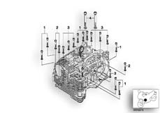 Goto diagram: BMW Classic Motorbike Model R 1150 GS Adv. 01 (0441,0492)( USA ), Category 11.11 mounting point crankcase left :: Diagram: 11_2799