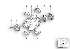Goto diagram: BMW Classic Motorbike Model R 1150 GS Adv. 01 (0441,0492)( USA ), Category 11.21 CRANKSHAFT ATTACHING PARTS :: Diagram: 11_2805