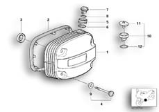 Goto diagram: BMW Classic Motorbike Model R 1150 GS Adv. 01 (0441,0492)( USA ), Category 11.12 Cylinder head cover/Mounting parts :: Diagram: 11_2807