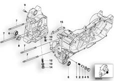 Goto diagram: BMW Classic Motorrad Modell C1 (0191)( ECE ), Category 11.11 Engine housing mounting parts :: Diagram: 11_2900