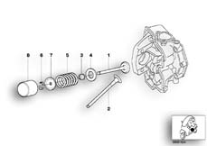 Goto diagram: BMW Classic Motorrad Modell C1 (0191)( ECE ), Category 11.34 TIMING GEAR - INTAKE VALVE/EXHAUST VALVE :: Diagram: 11_2922