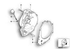 Goto diagram: BMW Classic Motorrad Modell C1 (0191)( ECE ), Category 11.14 Engine housing cover, right :: Diagram: 11_2926