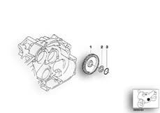 Goto diagram: BMW Classic Motorbike Model G 650 GS 09 (0178,0179)( ECE ), Category 11.41 Intermediate wheel, oil pump :: Diagram: 11_2935