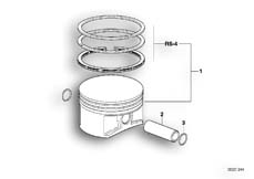 Goto diagram: BMW Classic Motorrad Modell F 700 GS (0B21)( BRA ), Category 11.25 Piston with rings and pin :: Diagram: 11_2940