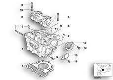 Goto diagram: BMW Classic Motorbike Model G 650 GS 09 (0178,0179)( ECE ), Category 11.12 Cylinder head :: Diagram: 11_2945