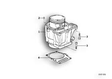 Goto diagram: BMW Classic Motorbike Model G 650 GS 09 (0178,0179)( ECE ), Category 11.11 CYLINDER WITH PISTON :: Diagram: 11_2946
