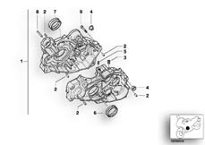 Goto diagram: BMW Classic Motorbike Model G 650 GS 09 (0178,0179)( ECE ), Category 11.11 Engine housing mounting parts :: Diagram: 11_2948