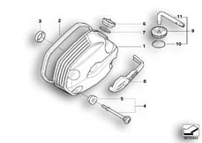 Goto diagram: BMW Classic Motorbike Model R 900 RT 05 SF (0367,0387)( ECE ), Category 11.12 Cylinder head cover :: Diagram: 11_3584