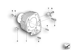 Goto diagram: BMW Classic Motorrad Modell R 900 RT 05 SF (0367,0387)( ECE ), Category 11.11 Cylinder :: Diagram: 11_3595