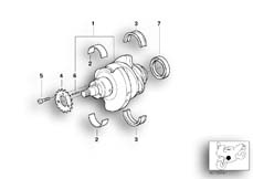 Goto diagram: BMW Classic Motorbike Model R nineT (0A06, 0A16)( USA ), Category 11.21 CRANKSHAFT ATTACHING PARTS :: Diagram: 11_3669