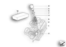 Goto diagram: BMW Classic Motorbike Model G 650 GS 09 (0178,0179)( ECE ), Category 11.34 TIMING GEAR - INTAKE VALVE/EXHAUST VALVE :: Diagram: 11_3671