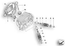 Goto diagram: BMW Classic Motorbike Model R 1200 R 06 (0378,0398)( USA ), Category 11.34 TIMING GEAR - INTAKE VALVE/EXHAUST VALVE :: Diagram: 11_3672