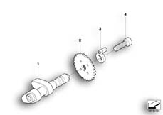 Goto diagram: BMW Classic Motorbike Model R 1200 GS Adve. 10 (0470,0480)( ECE ), Category 11.31 Camshaft Camshaft :: Diagram: 11_3676
