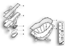 Goto diagram: BMW Classic Motorbike Model F 800 R (0215)( BRA ), Category 11.13 Oil pan :: Diagram: 11_4006