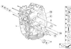 Goto diagram: BMW Classic Motorrad Modell R nineT Pure (0J11, 0J13)( USA ), Category 11.11 Engine housing :: Diagram: 11_4200