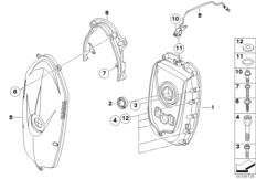Goto diagram: BMW Classic Motorbike Model R 1200 RT 10 (0430,0440)( USA ), Category 11.14 Timing chain cover :: Diagram: 11_4207