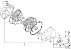 Goto diagram: BMW Classic Motorrad Modell HP2 Sport (0458, 0468)( ECE ), Category 11.12 Cylinder head cover :: Diagram: 11_4210
