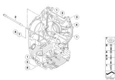 Goto diagram: BMW Classic Motorbike Model R nineT Racer (0J21, 0J23)( USA ), Category 11.11 mounting point crankcase left :: Diagram: 11_4218