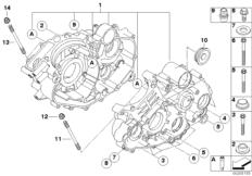 Goto diagram: BMW Classic Motorrad Modell G 450 X (0145)( USA ), Category 11.11 Engine housing mounting parts :: Diagram: 11_4234