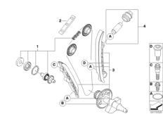 Goto diagram: BMW Classic Motorrad Modell G 450 X (0145)( USA ), Category 11.34 Set, timing chain/coolant pump shaft :: Diagram: 11_4245