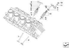 Goto diagram: BMW Classic Motorrad Modell K 1300 GT (0538,0539)( USA ), Category 11.34 TIMING GEAR - INTAKE VALVE/EXHAUST VALVE :: Diagram: 11_4271
