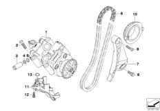 Goto diagram: BMW Classic Motorrad Modell K 1300 GT (0538,0539)( USA ), Category 11.41 Single parts for oil pump :: Diagram: 11_4272