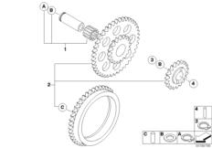 Goto diagram: BMW Classic Motorrad Modell G 450 X (0145)( USA ), Category 11.41 Oil pump, drive :: Diagram: 11_4281