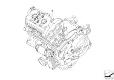 Goto diagram: BMW Classic Motorrad Modell F 700 GS 17 (0B26)( BRA ), Category 11.05 Engine :: Diagram: 11_4287