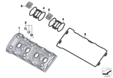 Goto diagram: BMW Classic Motorbike Model S 1000 RR 10 (0507,0517)( ECE ), Category 11.12 Cylinder head cover :: Diagram: 11_4480