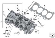 Goto diagram: BMW Classic Motorbike Model S 1000 R 17 (0D72)( BRA ), Category 11.12 Cylinder head :: Diagram: 11_4481