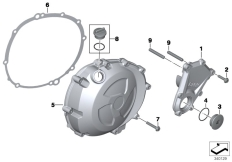 Goto diagram: BMW Classic Motorbike Model S 1000 R 17 (0D72)( BRA ), Category 11.14 Engine housing cover, right :: Diagram: 11_4484