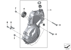 Goto diagram: BMW Classic Motorbike Model S 1000 R 17 (0D72)( BRA ), Category 11.14 Engine housing cover, left :: Diagram: 11_4485