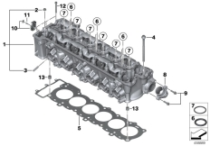 Goto diagram: BMW Classic Motorbike Model K 1600 GTL 17 (0F02, 0F12)( USA ), Category 11.12 Cylinder Head/Mounting parts :: Diagram: 11_4668