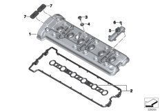 Goto diagram: BMW Classic Motorbike Model K 1600 GTL 17 (0F02, 0F12)( USA ), Category 11.12 CYLINDER HEAD / COVER / GASKETS :: Diagram: 11_4669