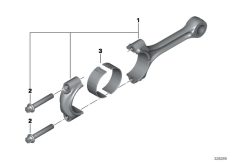 Goto diagram: BMW Classic Motorbike Model K 1600 Bagger (0F51, 0F53)( USA ), Category 11.24 Connecting rod / Connecting rod bearing :: Diagram: 11_4670