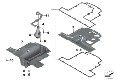 Goto diagram: BMW Classic Motorbike Model K 1600 GTL 17 (0F02, 0F12)( USA ), Category 11.13 Oil pan :: Diagram: 11_4673