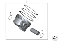 Goto diagram: BMW Classic Motorrad Modell K 1600 GT 17 (0F01, 0F11)( ECE ), Category 11.25 PISTON, SINGLE COMPONENTS :: Diagram: 11_4702